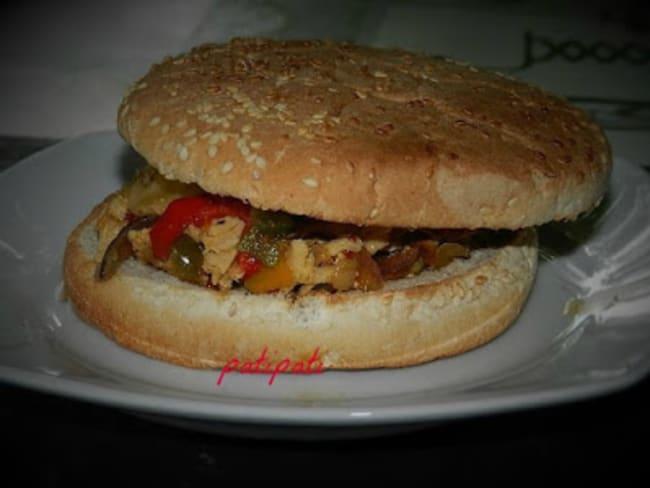 Hamburgers aux légumes du Sud et dindonneau