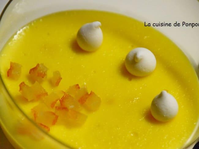 Crème mistralette, parfumée à l'orange