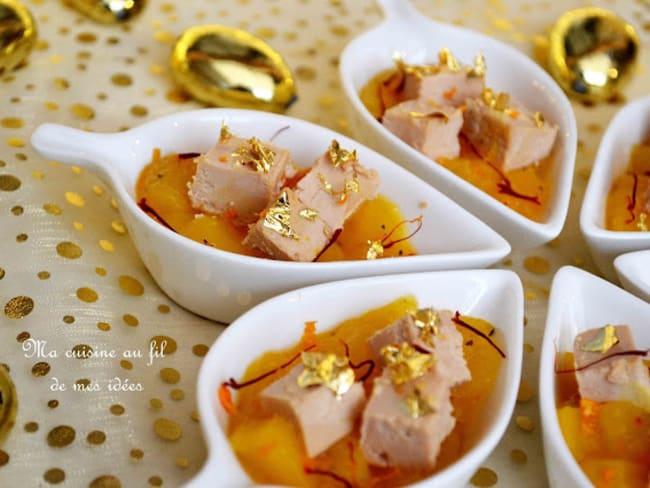Foie gras et chutney de mangue au jus de clémentine