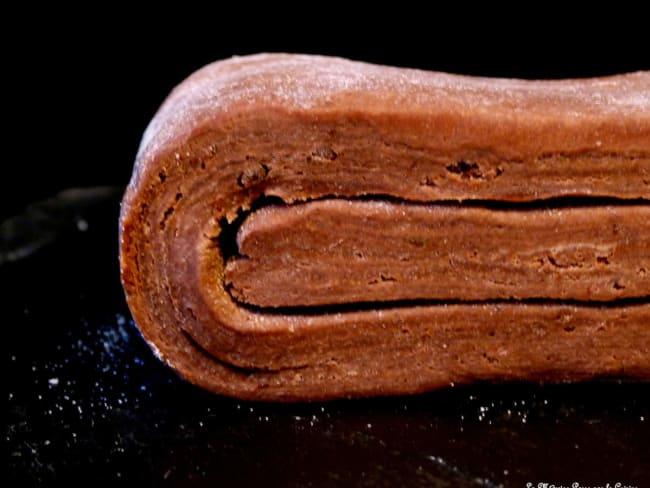 Pâte feuilletée inversée au chocolat