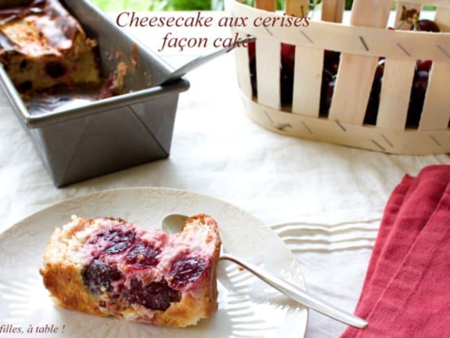 Cheesecake aux cerises façon cake