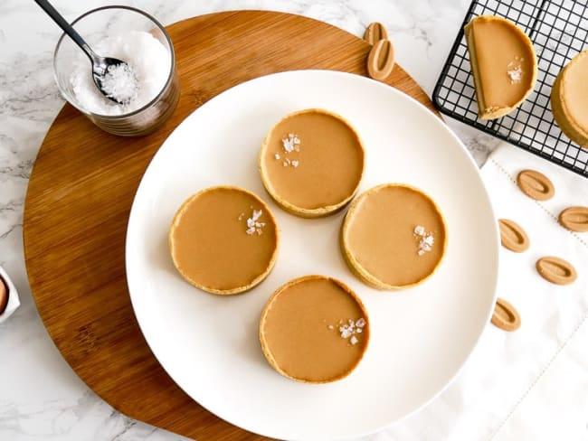Tartelettes cheesecakes au chocolat Dulcey