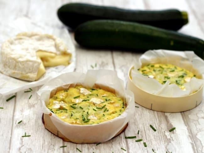 Quiche sans pâte au camembert et courgette