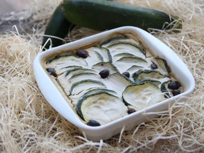 Flan de courgettes aux olives