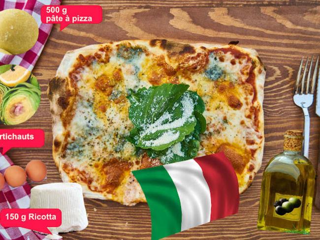 Pizzas artichauts et Ricotta