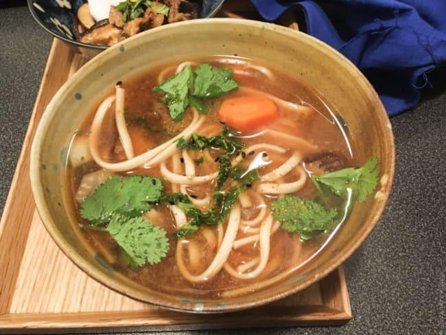 Miso udons aux légumes