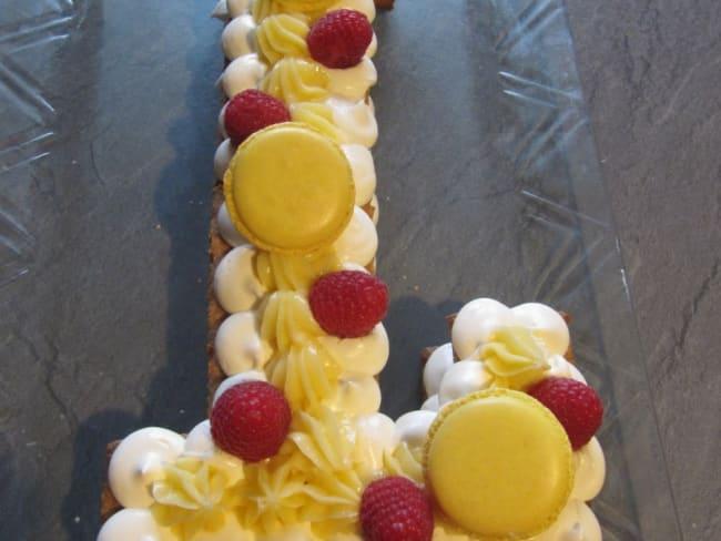 Letter cake ou gâteau Lettre