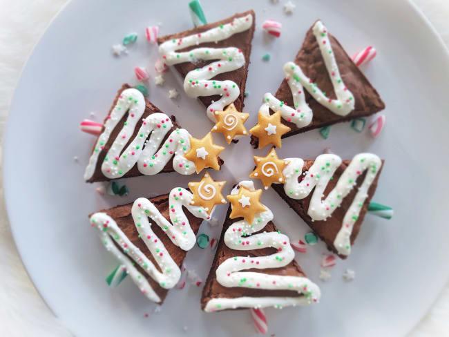 Brownie sapin de Noël
