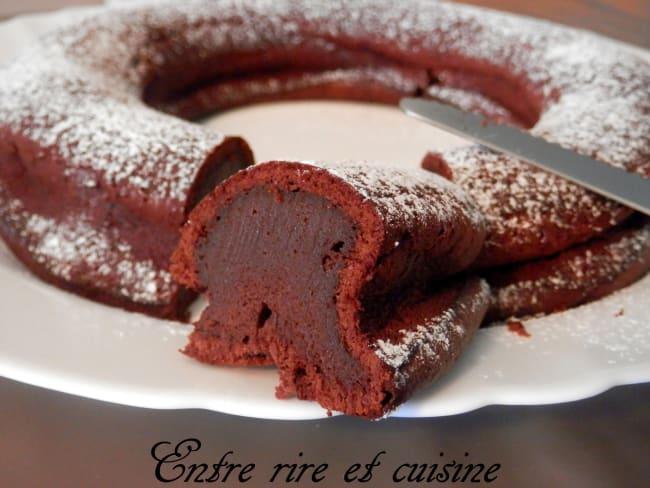 Gâteau mousse au chocolat et fromage blanc