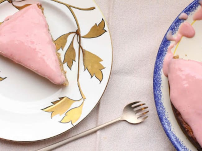 Gâteau au panais, glaçage à l'orange sanguine