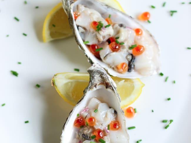 Tartare d'huîtres aux noix de Saint-Jacques