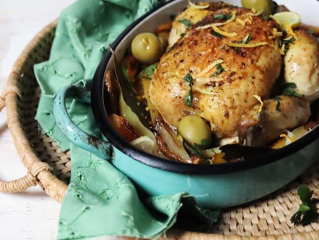 Poulet rôti olives d'Espagne et citron