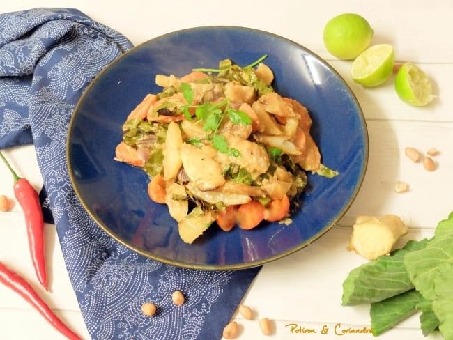 Légumes rôtis sauce satay