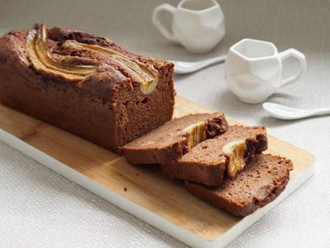 Banana bread au chocolat et aux noix de pécan