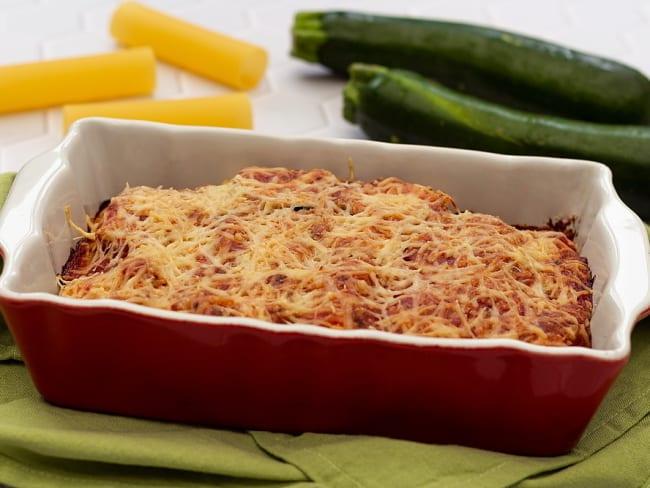 Cannelloni au bacon, ricotta et courgette