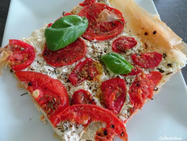Tarte filo aux tomates