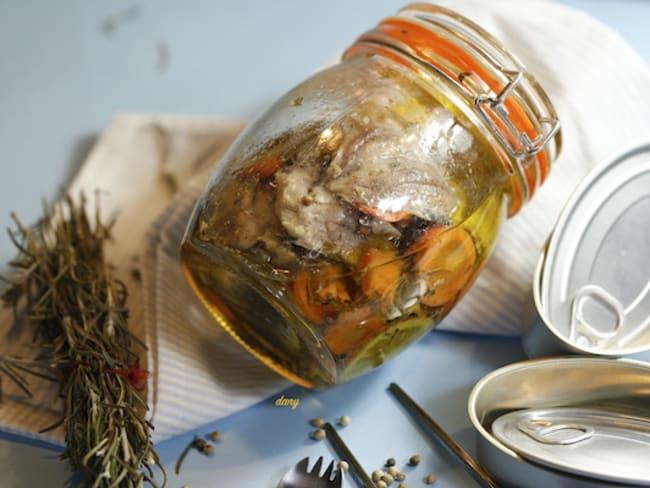 Sardine à l'huile d'olive maison