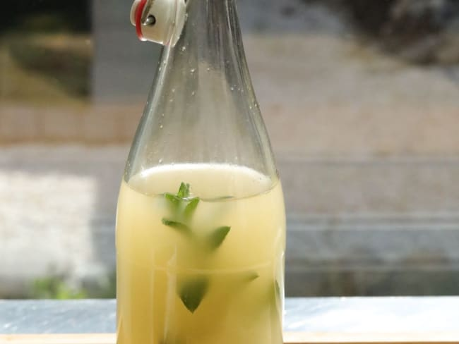 Kéfir raisins secs menthe bergamote