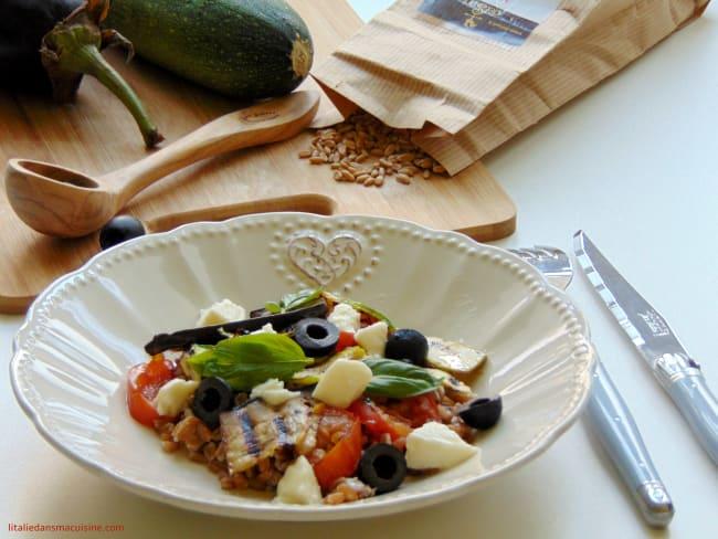 Salade de farro aux légumes grillés