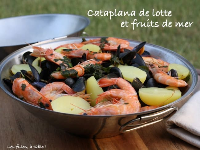 Cataplana de lotte et fruits de mer