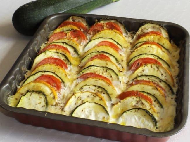 Tian de courgettes et tomates à la mozzarella