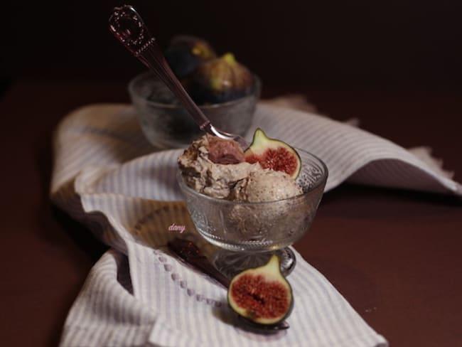 Glace aux figues et au fromage blanc