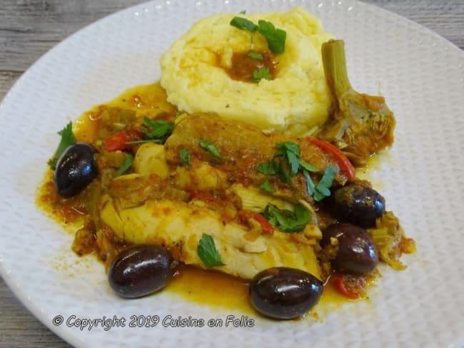 Râbles de lapin à la provençale, polenta crémeuse et son puits de jus