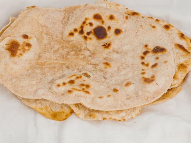Chapati, pain plat africain