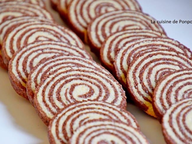 Sablé spirale vanille et confiture de lait cacao et noisette Raffolé
