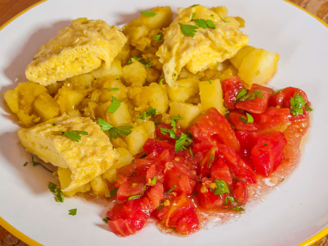 Curry d'omelette
