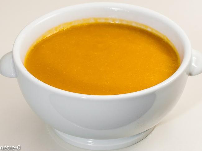 Soupe de potimarron au poireau