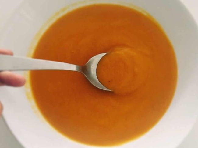Soupe courgettes, carottes, tomates