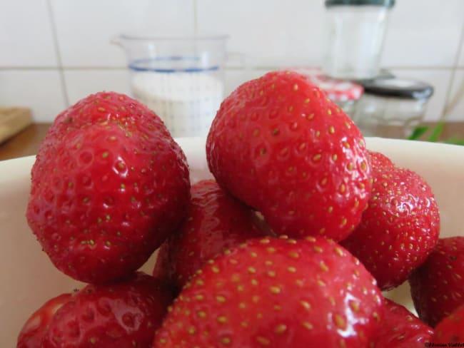 Confiture fraises menthe
