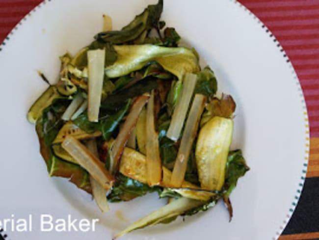 Blettes et courgettes rôties à l'huile d'olive et au citron