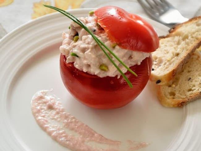 Tomates farcies thon et tarama