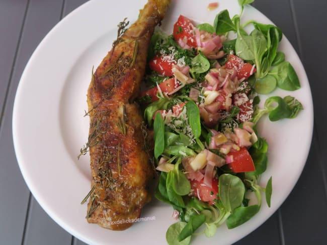 Cuisse de poulet aux épices tandoori, à la plancha