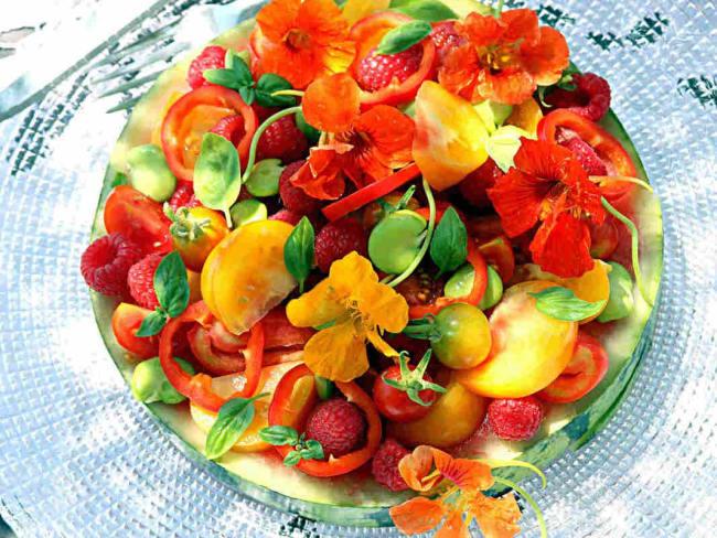 Salade d'été Capucine
