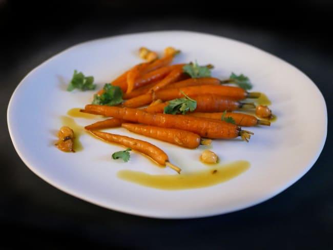 Toutes jeunes carottes au safran