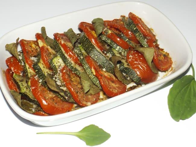 Tian de courgette, tomate et plantain