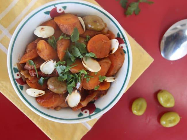 Tajine de carottes aux olives