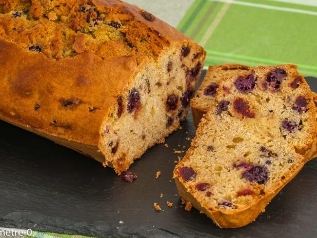 Gâteau du matin mûres cranberries