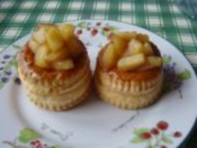 Feuilletés aux Pommes Rôties au Beurre