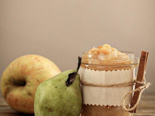 Compote de pomme et poire au four