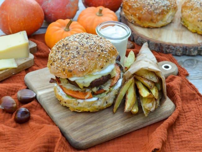 Burger d'automne végétarien