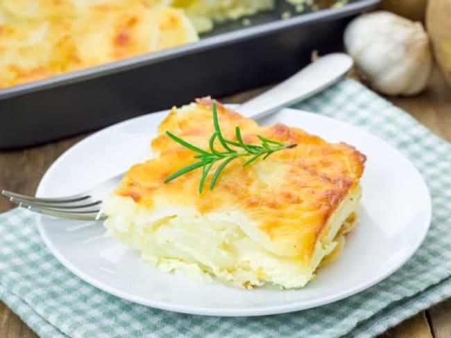 Gratin dauphinois au fromage blanc