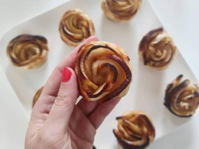 Pommes en forme de bouton de rose
