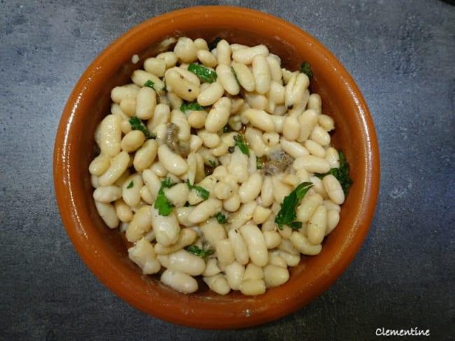 Salade de haricots blancs aux anchois de Collioure