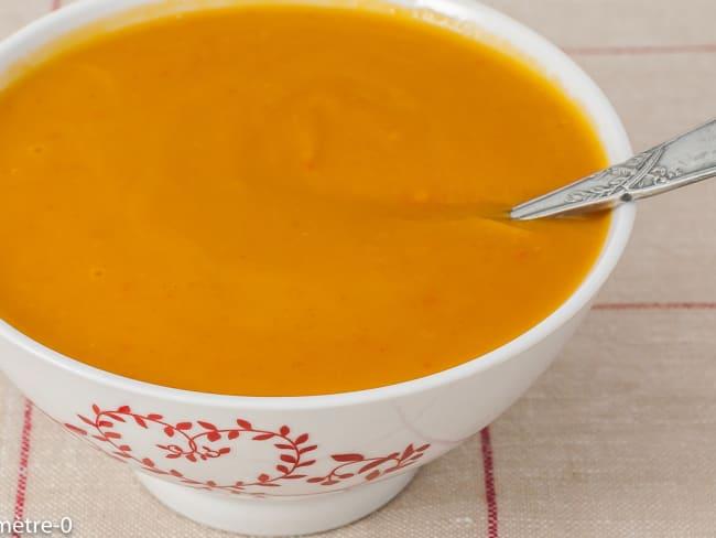 Soupe de potimarron au lait d'épeautre