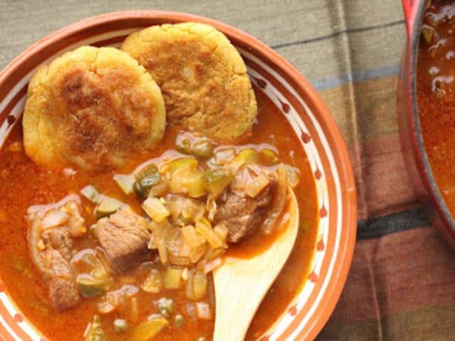 Soupe de boeuf mijoté aux cornichons