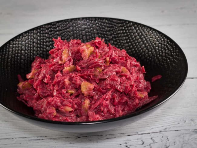 Salade betteraves tahiné noix